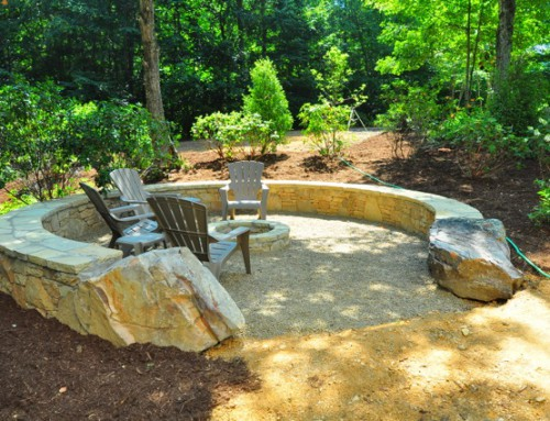 Fire Pit with Rock entrance